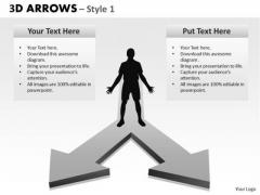 Sales Diagram 3d Arrows Style 2