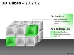 Sales Diagram 3d Cubes 2x2x3 Business Diagram