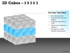 Sales Diagram 3d Cubes 3x3x3 Business Diagram