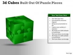 Sales Diagram 3d Cubes Built Out Of Puzzle Pieces Business Diagram