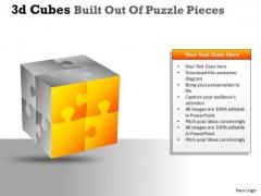 Sales Diagram 3d Cubes Built Out Of Puzzle Pieces Marketing Diagram