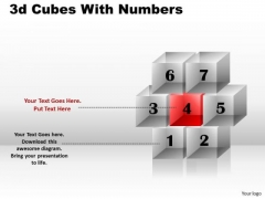 Sales Diagram 3d Cubes With Numbers Business Diagram