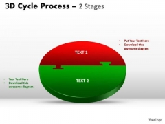 Sales Diagram 3d Cycle Process Flow Chart 2 Stages Style Flow Marketing Diagram