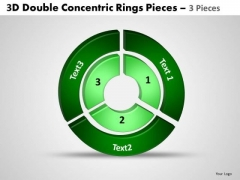 Sales Diagram 3d Double Concentric Rings Pieces 3 Consulting Diagram
