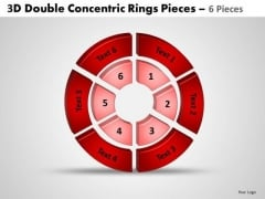 Sales Diagram 3d Double Concentric Rings Pieces 3 Marketing Diagram