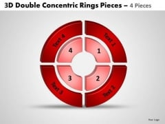 Sales Diagram 3d Double Concentric Rings Pieces 4 Consulting Diagram