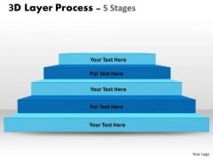 Sales Diagram 3d Layer Process With 5 Stages Strategy Diagram