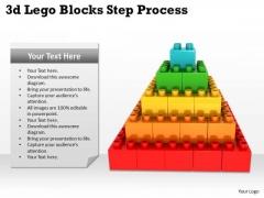 Sales Diagram 3d Lego Blocks Step Process Strategy Diagram