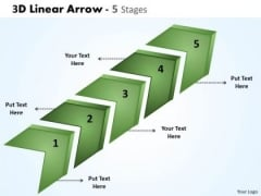 Sales Diagram 3d Linear Arrow 5 Stages 8 Business Cycle Diagram