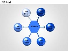 Sales Diagram 3d List 6 Circular Diagram Business Diagram