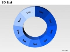 Sales Diagram 3d List Circular Consulting Diagram
