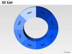 Sales Diagram 3d List Circular Marketing Diagram