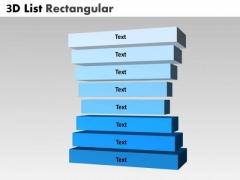 Sales Diagram 3d List Rectangular Stages Diagram Business Diagram