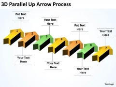 Sales Diagram 3d Parallel Up Arrow Process Marketing Diagram