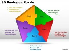 Sales Diagram 3d Pentagon Diagram Puzzle Process Business Cycle Diagram