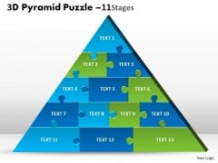 Sales Diagram 3d Pyramid Puzzle 11 Business Finance Strategy Development