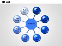 Sales Diagram 3d Templates List Business Diagram