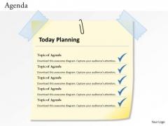 Sales Diagram 5 Staged Agenda Planning Diagram Business Diagram