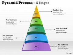 Sales Diagram 5 Staged Triangle Design For Business Consulting Diagram