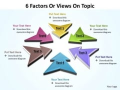 Sales Diagram 6 Factors Or Views On Topic Editable 2 Strategy Diagram