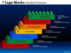 Sales Diagram 7 Lego Blocks Stacked Proces Business Framework Model