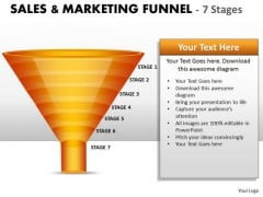Sales Diagram 7 Staged Sales Marketing Funnel Diagram Consulting Diagram