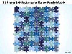 Sales Diagram 81 Pieces 9x9 Rectangular Jigsaw Puzzle Matrix Consulting Diagram