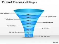 Sales Diagram 8 Staged Dependent Funnel Diagram Consulting Diagram