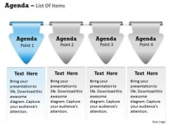 Sales Diagram Agenda List Of Items Business Diagram