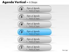 Sales Diagram Agenda Vertical 6 Steps Business Cycle Diagram