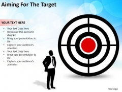Sales Diagram Aiming For The Target Business Concept Marketing Diagram