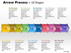 Sales Diagram Arrow Process 10 Stages Business Diagram