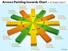 Sales Diagram Arrows Pointing Inwards Chart 12 Stages Style 3 Mba Models And Frameworks