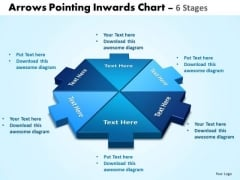 Sales Diagram Arrows Pointing Inwards Chart 6 Stages Editable 3 Marketing Diagram