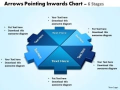 Sales Diagram Arrows Pointing Inwards Chart 6 Stages Strategic Management