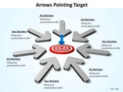 Sales Diagram Arrows Pointing Target Strategic Management