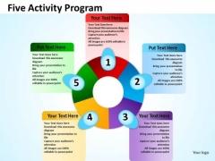 Sales Diagram Business Diagram Five Activity Program Business Diagram