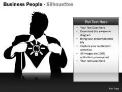 Sales Diagram Business People Silhouettes Business Cycle Diagram