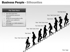 Sales Diagram Business People Silhouettes Marketing Diagram