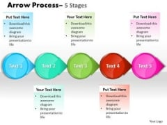 Sales Diagram Circle Arrow 5 Stages Business Diagram