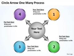 Sales Diagram Circle Arrow One Many Process Strategic Management