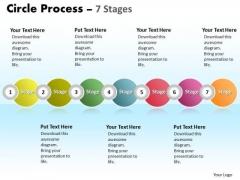 Sales Diagram Circle Process 7 Stages Business Diagram