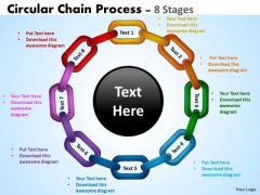 Sales Diagram Circular Chain Flowchart Process Diagram 8 Stages Business Framework Model