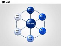 Sales Diagram Circular Diagram 3d List Business Diagram
