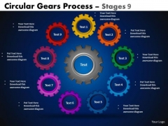 Sales Diagram Circular Gears Flowchart Process Stages 9 Mba Models And Frameworks
