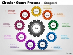 Sales Diagram Circular Gears Flowchart Process Stages Marketing Diagram