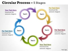 Sales Diagram Circular Process 5 Stages Marketing Diagram