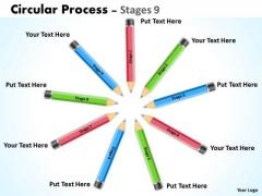 Sales Diagram Circular Process Stages Marketing Diagram