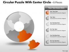 Sales Diagram Circular Puzzle Diagram Business Framework Model