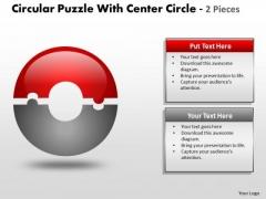 Sales Diagram Circular Puzzle With Center Circle 2 Strategic Management